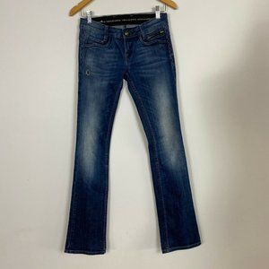 Rerock for Express Womens Blue Distressed Jeans